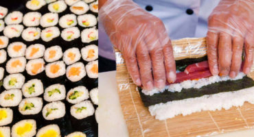 Sushi class at the Reeperbahn in the heart of Hamburg